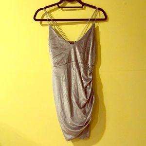 Double Strap Velvet dress by boohoo